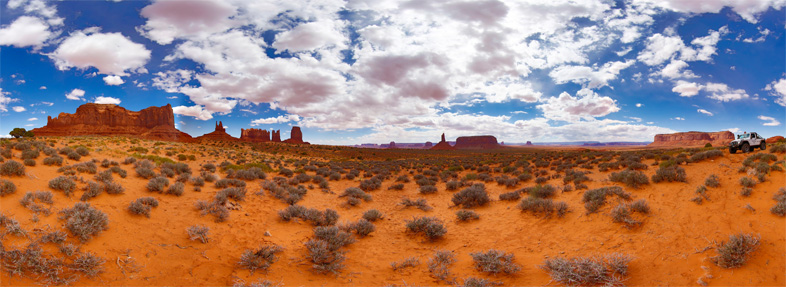 360° x 150° West of Monument Valley